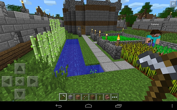 Play Minecraft Pocket Edition with your Android